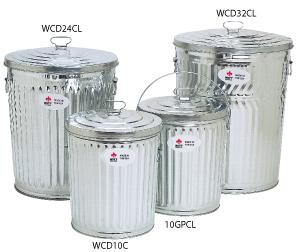 Galvanized Trash Cans Heavy Duty Metal Garbage Can Commercial